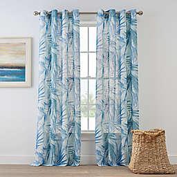 Coastal Living Palm Leaf Grommet Panel in Blue
