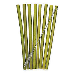 Totally Bamboo® Bamboo Drinking Straws with Cleaning Brush (9-Piece Set)