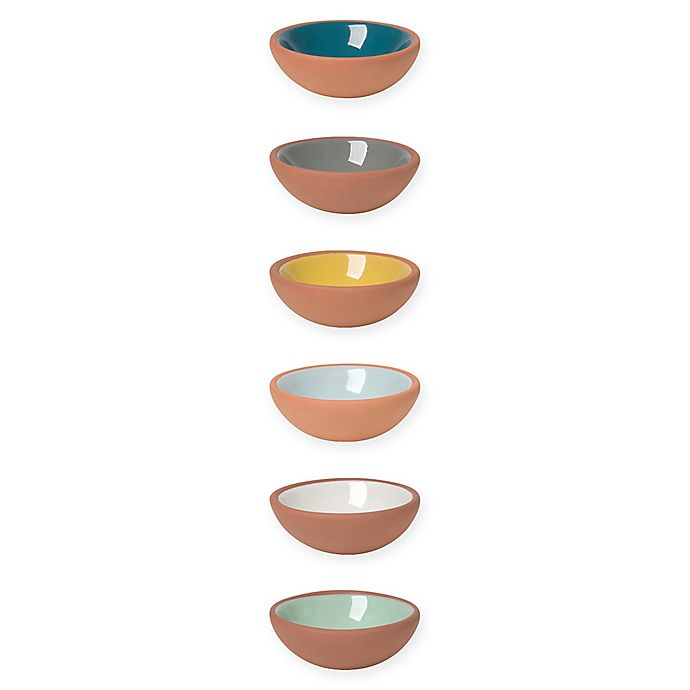 Alternate image 1 for Now Designs® Terracotta Pinch Bowls (Set of 6)