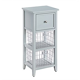 Bee & Willow™ Home Floor Cabinet with Wire Baskets in Green