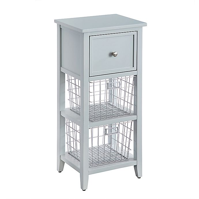 Alternate image 1 for Bee & Willow™ Home Floor Cabinet with Wire Baskets in Green