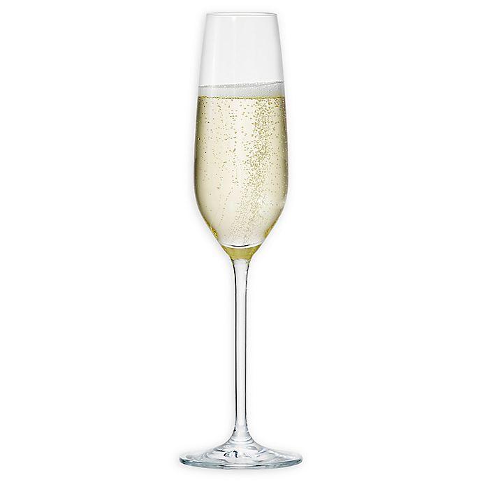 Alternate image 1 for Neil Lane™ by Fortessa® Trilliant Champagne Flutes (Set of 4)