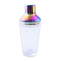 Cambridge Silversmiths™ 24 oz. Recipe Printed Glass Cocktail Shaker in Rainbow