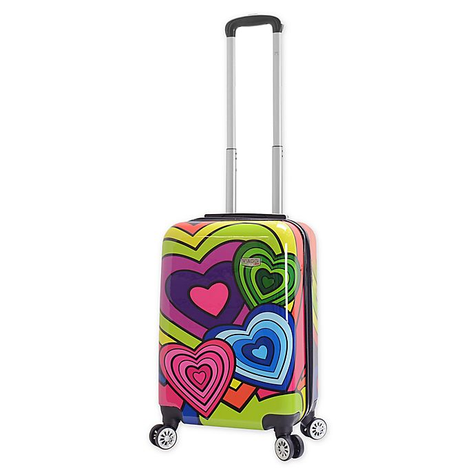 Alternate image 1 for Mia Viaggi Pop Heart 20-Inch Carry On Luggage
