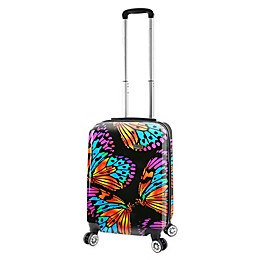 Mia Viaggi Ink Butterflies 20-Inch Carry On Luggage