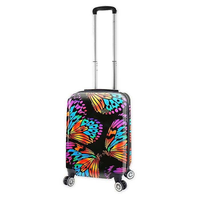 Alternate image 1 for Mia Viaggi Ink Butterflies 20-Inch Carry On Luggage