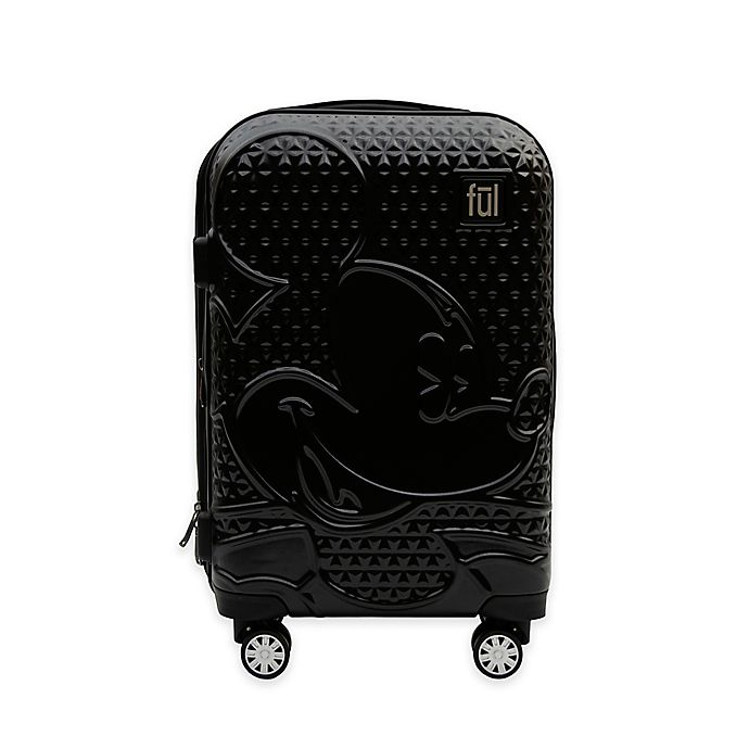 Alternate image 1 for ful® Textured Mickey Mouse Hard Sided Rolling Luggage