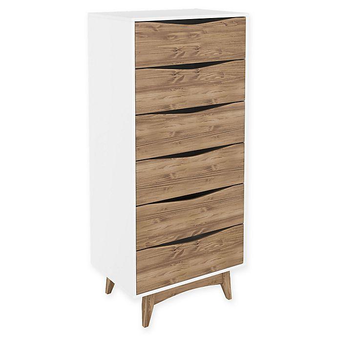 Alternate image 1 for Manhattan Comfort Hamilton 6-Drawer Dresser in Grey