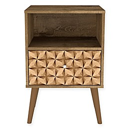 Manhattan Comfort Liberty 1.0 Nightstand with 3D Panel