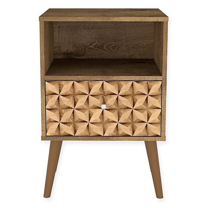 Alternate image 1 for Manhattan Comfort Liberty 1.0 Nightstand with 3D Panel