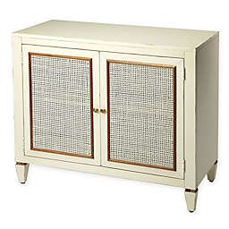 Masterpiece 2-Door Console Cabinet in White/Mahogany