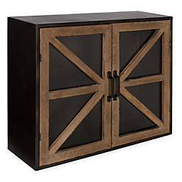 Kate and Laurel™ Mace Decorative Modern Farmhouse Cabinet in Rustic Brown