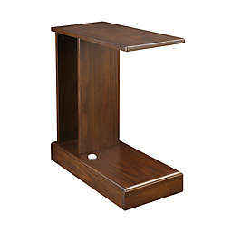 Casual Home Monroe C Side Table with Concealed Drawer in Mocha