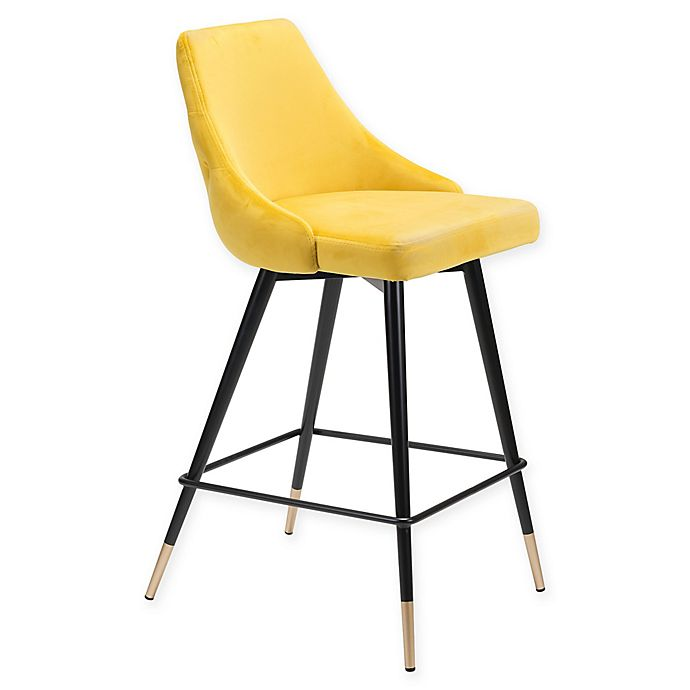 Alternate image 1 for Zuo® Piccolo 25.6-Inch Counter Stool in Yellow