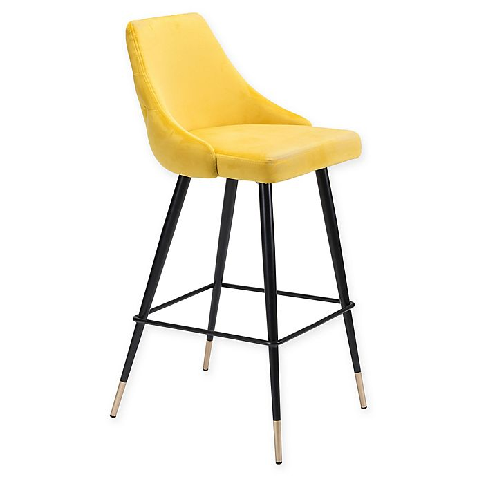 Alternate image 1 for Zuo® Piccolo 29.5-Inch Counter Stool in Yellow