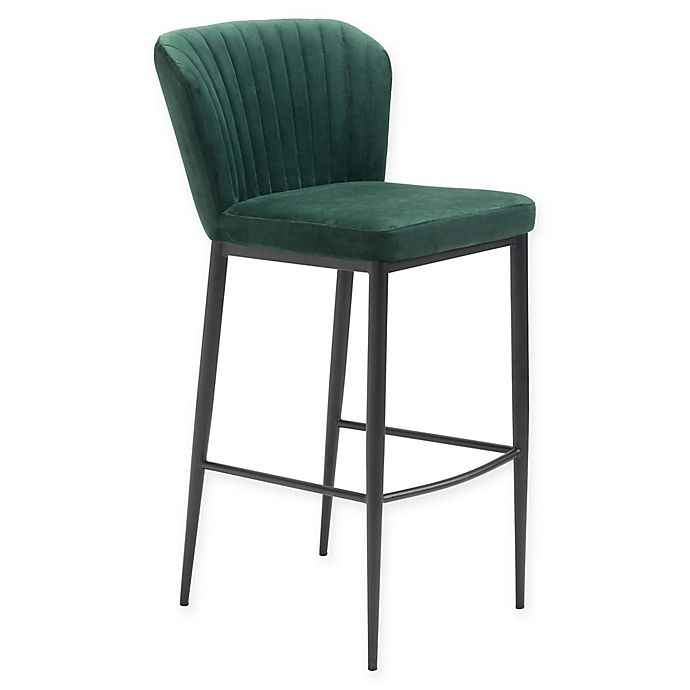 Alternate image 1 for Zuo® Tolivere Bar Stools in Green (Set of 2)