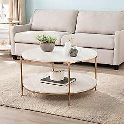 Southern Enterprises Silas Faux Stone Table Collection