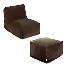 Majestic Home Goods Velvet Bean Bag Furniture Collection