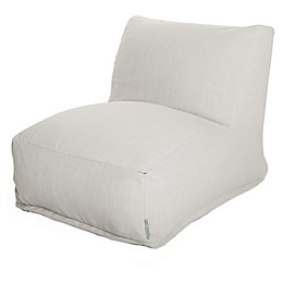Majestic International Sherpa Bean Bag Furniture Collection in Cream