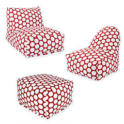 Majestic International Large Polka Dot Bean Bag Furniture Collection