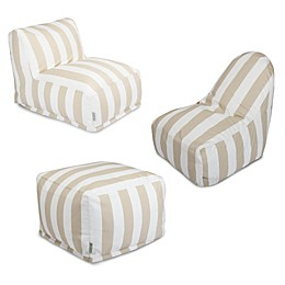 Majestic International Vertical Stripe Bean Bag Furniture Collection