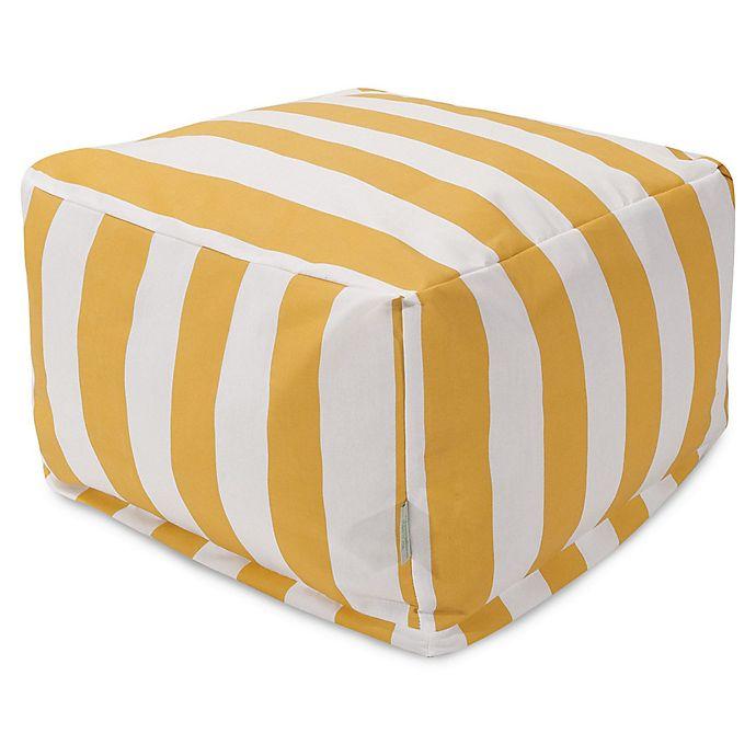 Alternate image 1 for Majestic International Vertical Stripe Bean Bag Ottoman in Yellow