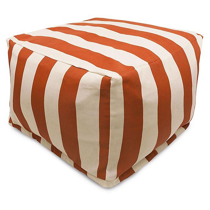 Alternate image 1 for Majestic International Vertical Stripe Bean Bag Ottoman in Burnt Orange