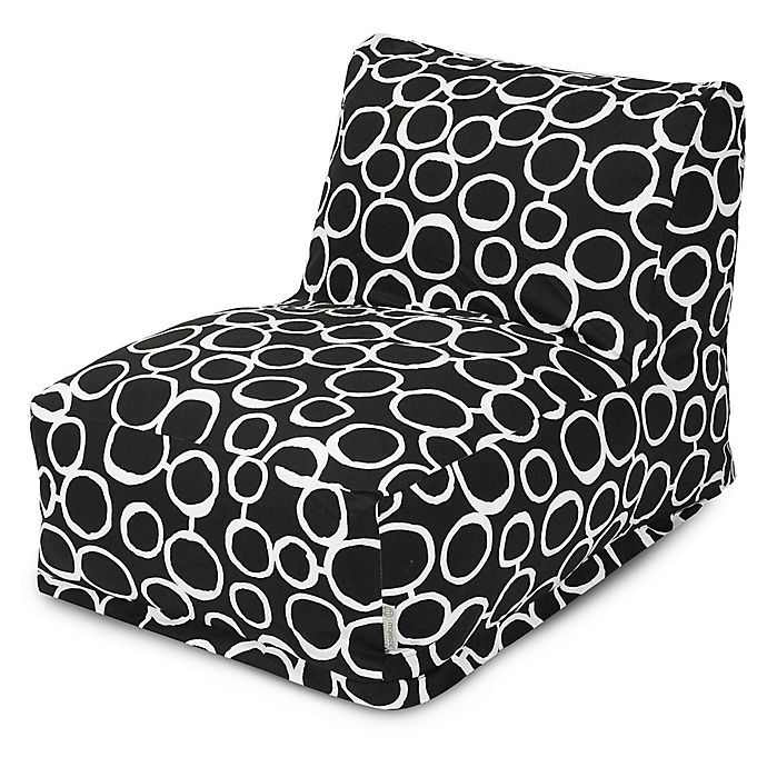 Alternate image 1 for Majestic Home Goods Fusion Bean Bag Chair Lounger in Black