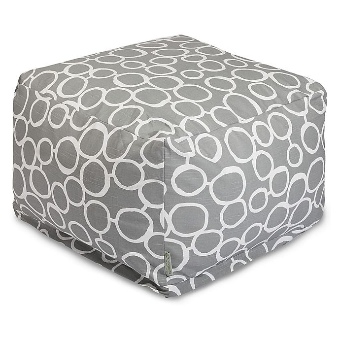 Alternate image 1 for Majestic Home Goods Fusion Bean Bag Ottoman in Grey