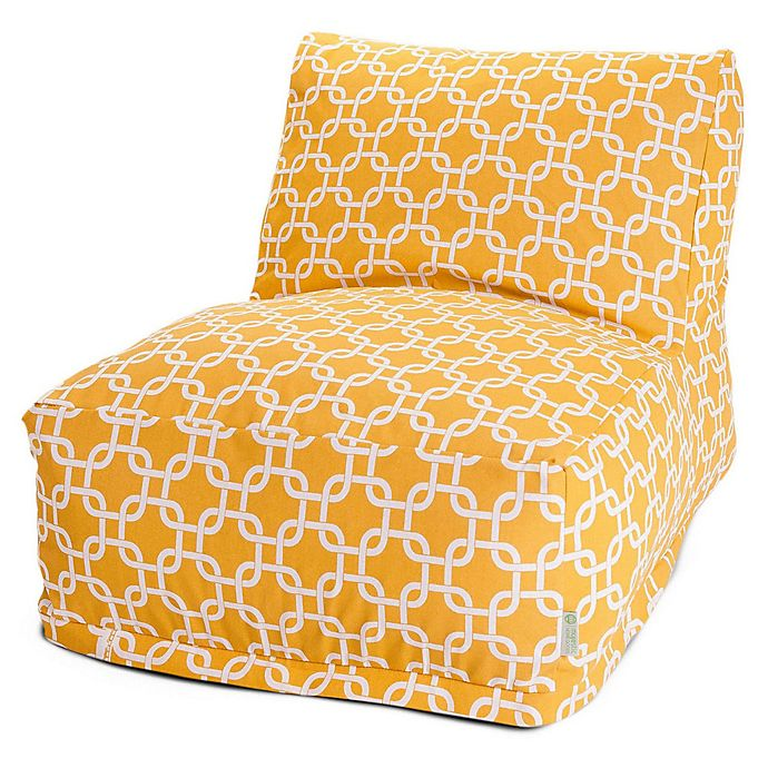 Alternate image 1 for Majestic Home Goods Links Bean Bag Chair Lounger in Yellow
