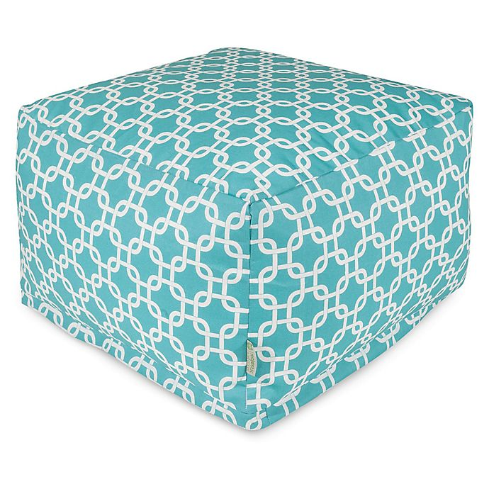 Alternate image 1 for Majestic Home Goods Links Bean Bag Ottoman in Teal