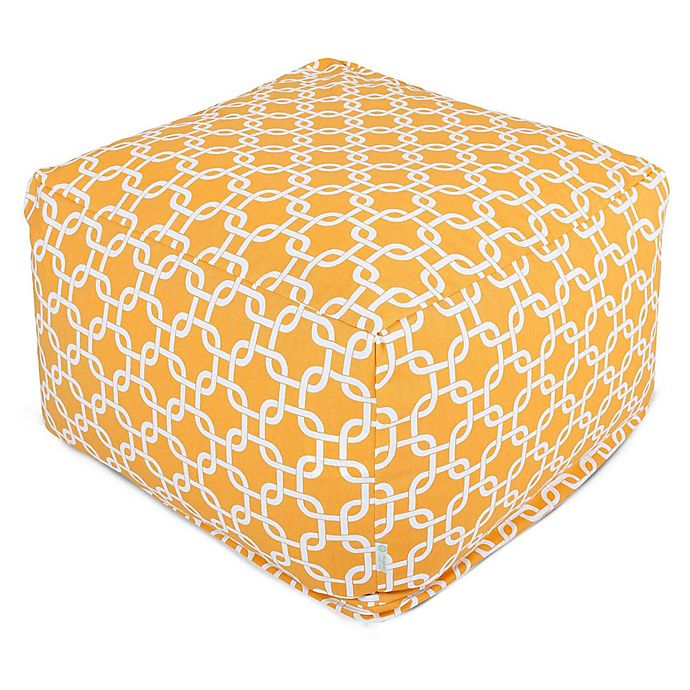 Alternate image 1 for Majestic Home Goods Links Bean Bag Ottoman in Yellow