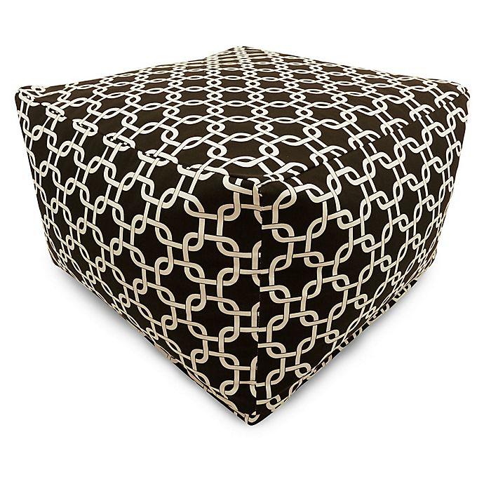Alternate image 1 for Majestic Home Goods Links Bean Bag Ottoman in Black