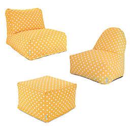Majestic Home Goods Ikat Dot Bean Bag Furniture Collection