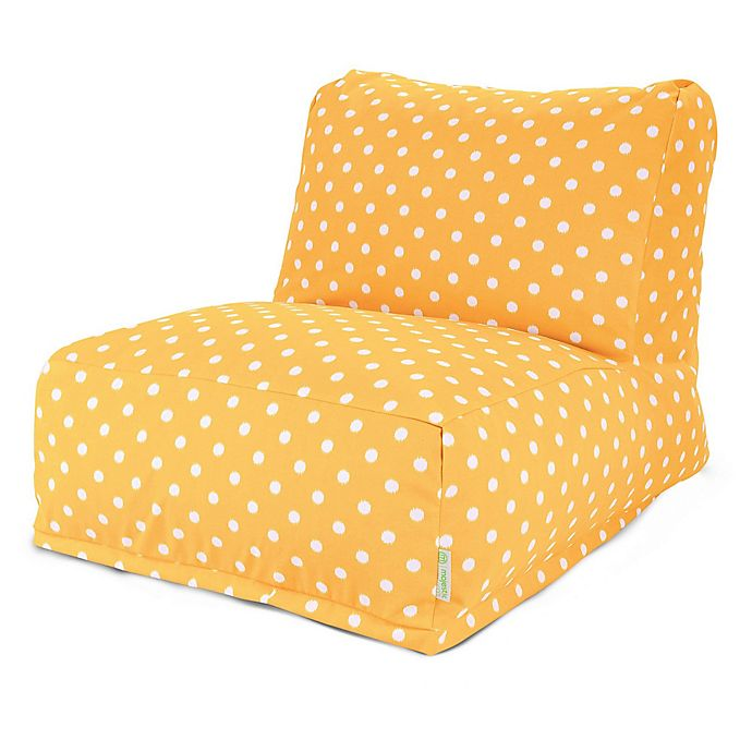 Alternate image 1 for Majestic Home Goods Ikat Dot Bean Bag Chair Lounger in Citrus