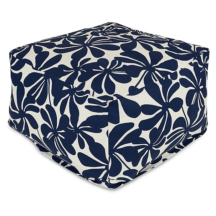 Alternate image 1 for Majestic Home Goods Plantation Bean Bag Ottoman in Navy Blue