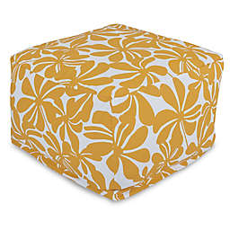 Majestic Home Goods Plantation Bean Bag Ottoman in Yellow