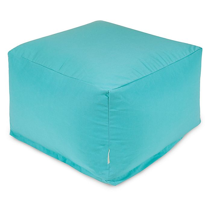 Alternate image 1 for Majestic Home Goods Solid Color Bean Bag Ottoman in Teal