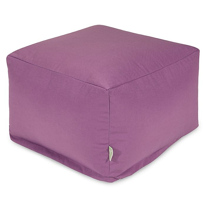 Alternate image 1 for Majestic Home Goods Solid Color Bean Bag Ottoman in Lilac