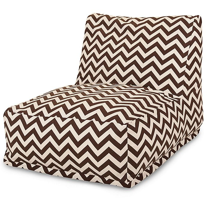Alternate image 1 for Majestic Home Goods Chevron Bean Bag Chair Lounger in Chocolate