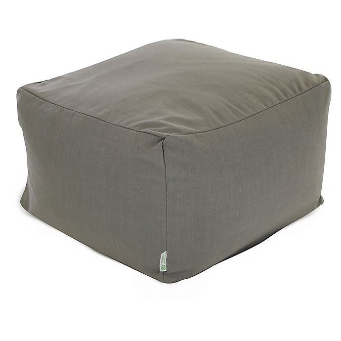 Alternate image 1 for Majestic Home Goods Wales Bean Bag Ottoman in Grey