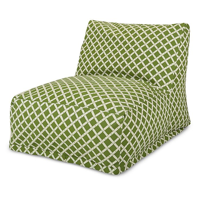Alternate image 1 for Majestic Home Goods Bamboo Bean Bag Chair Lounger in Sage