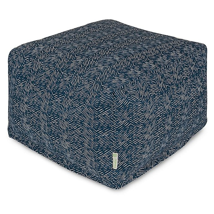 Alternate image 1 for Majestic Home Goods South West Bean Bag Ottoman in Navy