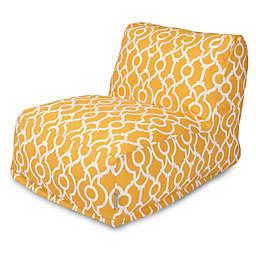 Majestic International Kick-It Athens Bean Bag Chair Lounger in Citrus