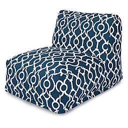 Majestic International Kick-It Athens Bean Bag Chair Lounger in Navy