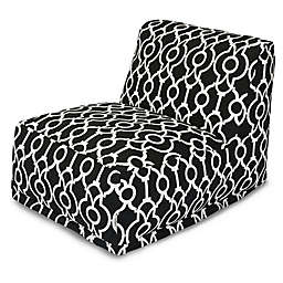 Majestic International Kick-It Athens Bean Bag Chair Lounger in Black