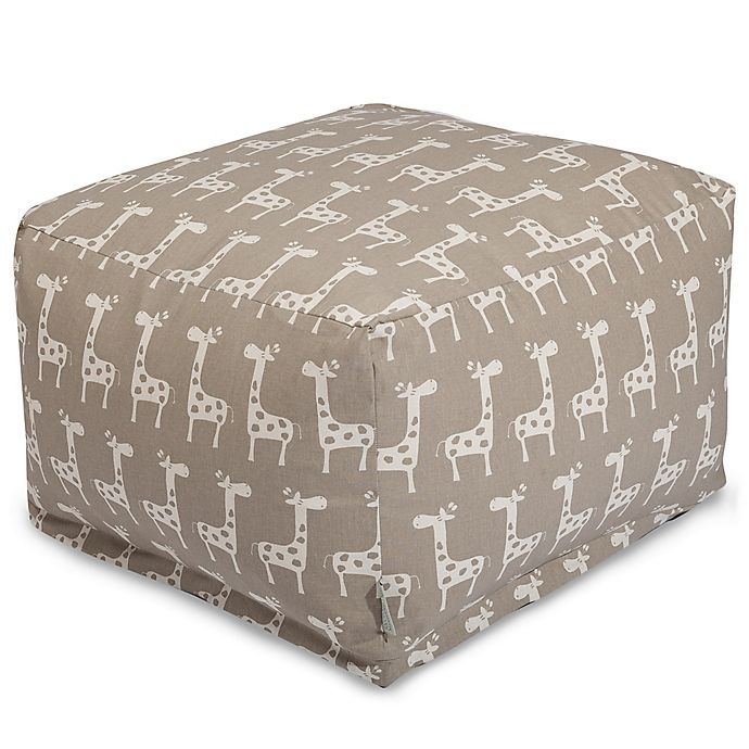Alternate image 1 for Majestic Home Goods Stretch Bean Bag Ottoman in Maple