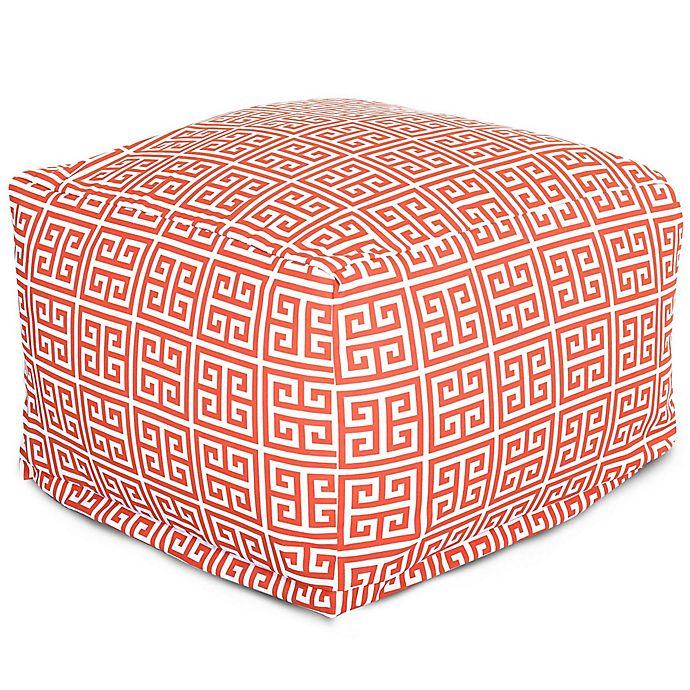 Alternate image 1 for Majestic International Kick-It Towers Bean Bag Ottoman in Orange