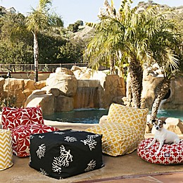 Majestic International Kick-It Coral Bean Bag Seating Collection