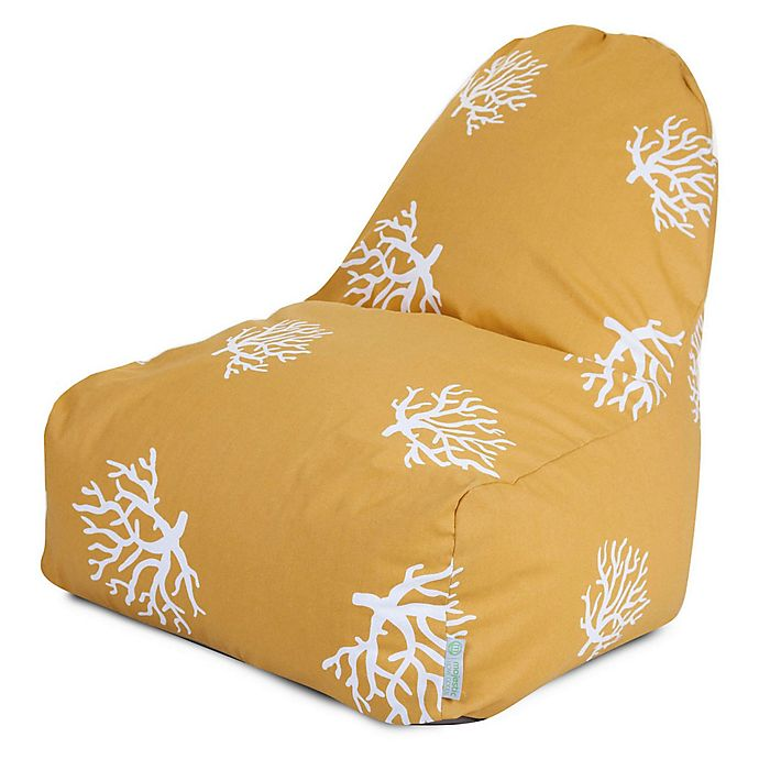 Alternate image 1 for Majestic International Kick-It Coral Bean Bag Chair in Yellow
